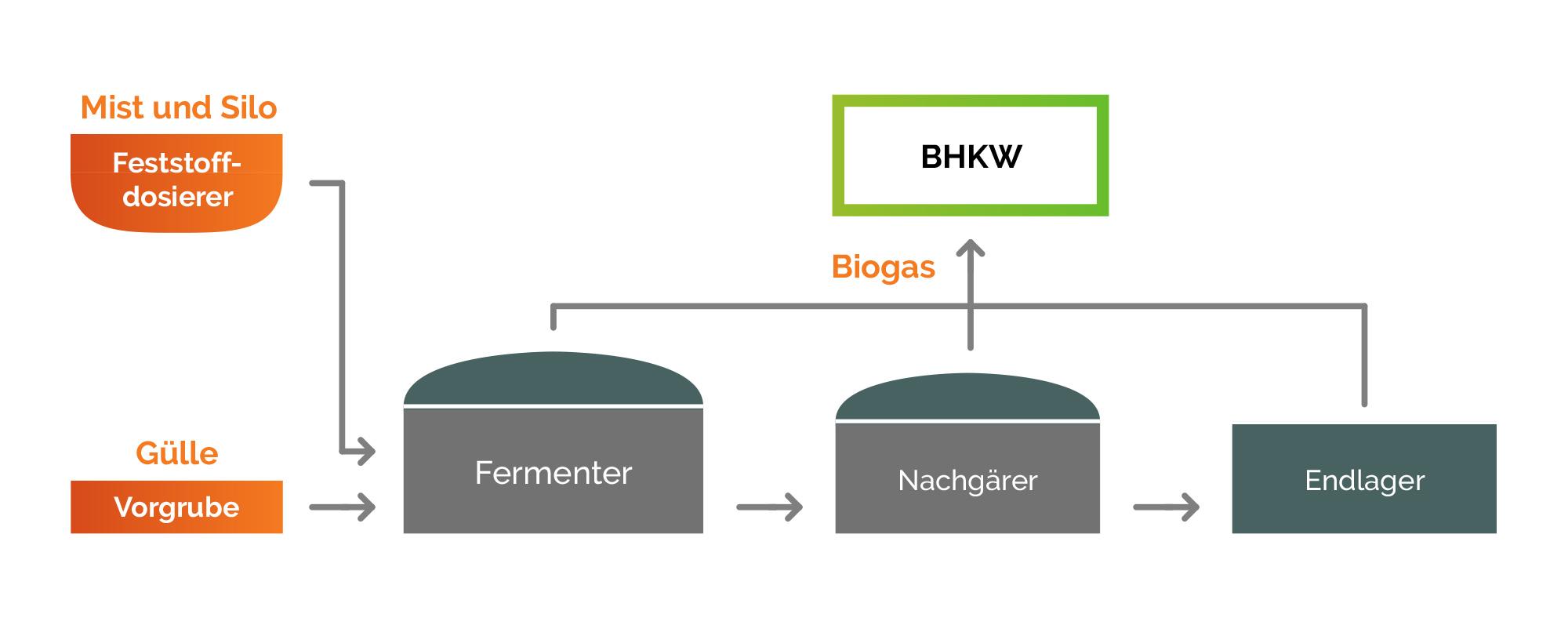 Energiegenossenschaft Gussenstadt eG – Grafik Biogas